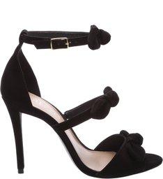 Sandália Nobuck Tiny Bows Feminino Preta