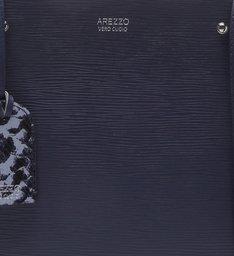 Bolsa Couro Tote Média Bella Navy Blue