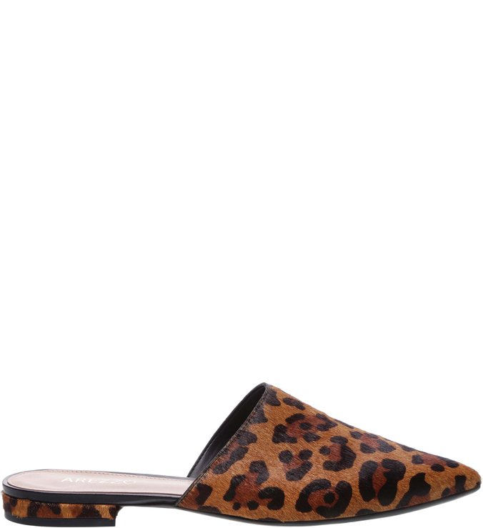 Mule Bico Fino Animal Print