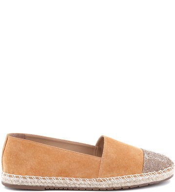 Espadrille Crystal-Toe Tan