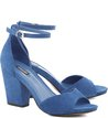 Sandália Minimal Nobuck Azul
