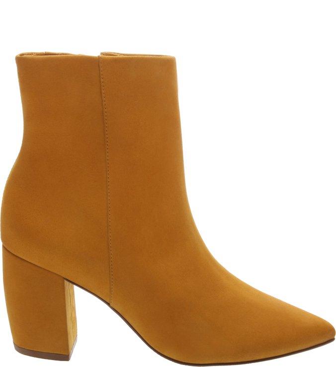 Ankle Boot Nobuck Lisa Salto Bloco New Dijon