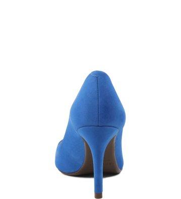 Scarpin Médio Nobuck Blue-Wave