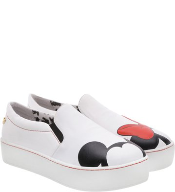 Disney x Arezzo | Tênis Slip On Pop Branco