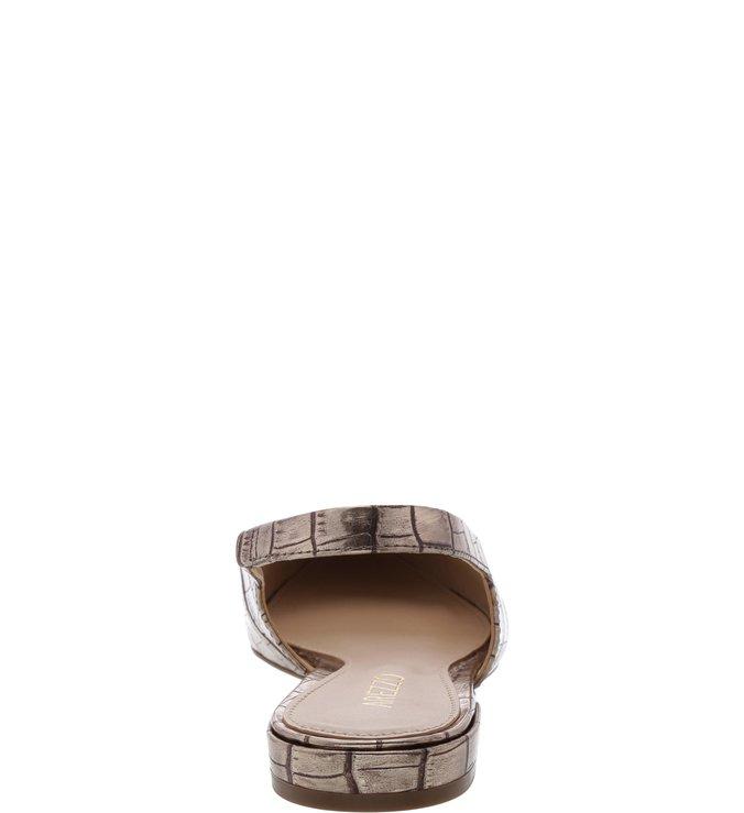 Sapatilha Croco Slingback New Titanium