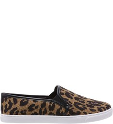 Tênis Slip On Animal Print Lince
