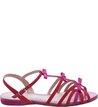 Sandália Rasteira Nobuck Laços Lady Pink