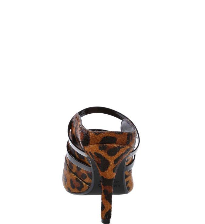 Mule Pelo Aberto Tiras Leopardo