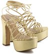 Plataforma Glam Lace-Up Ouro