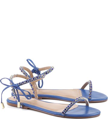 Rasteira Lace Up Glam Portofino