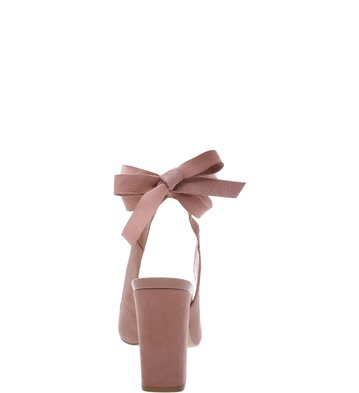 e1f5176903 Scarpin Nobuck Lace-up Feminino Rose Blush