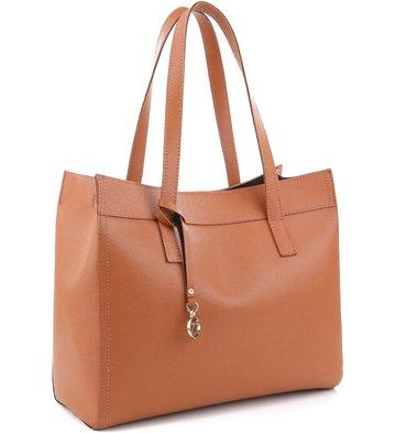 Bolsa Shopping Minimal Tan
