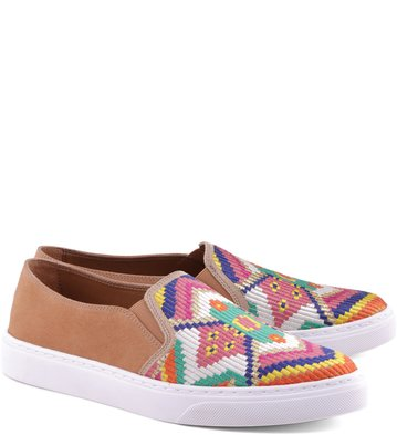 Slip-on Bordado Étnico Blush