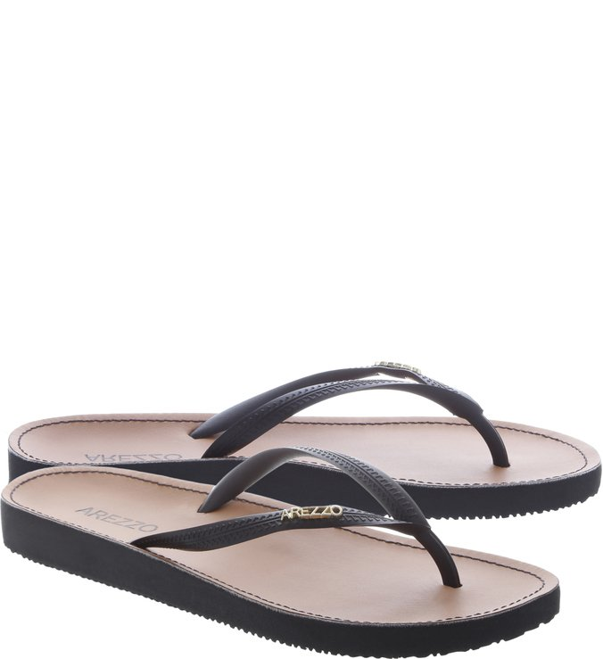 Chinelo Beach Chic Preto