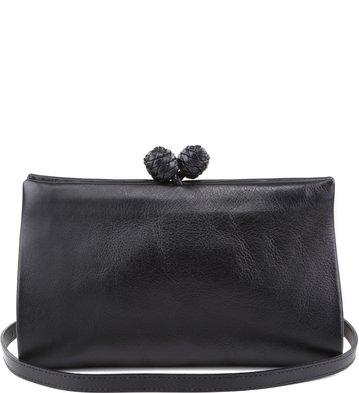 Clutch Floral Negro