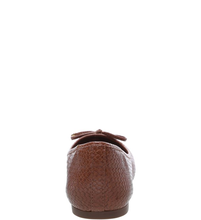 Sapatilha Textura Laço Whisky