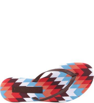 Rasteira Ethnic Print
