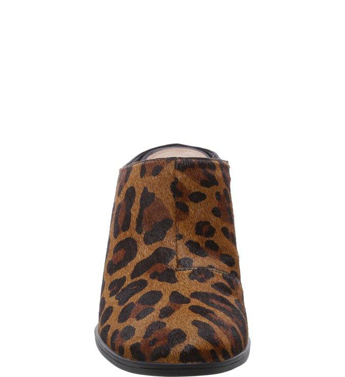 Mule Pelo Salto Médio Animal Print Leopardo