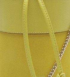 Bolsa Couro Bucket Pequena Nina Full Yellow
