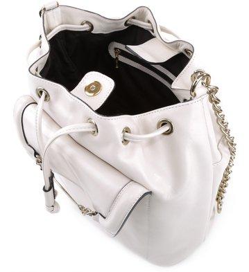 Bolsa Bucket Couro Off-White
