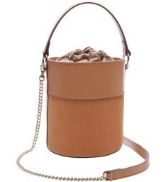 Bolsa Couro Bucket Pequena Nina Tamarindo