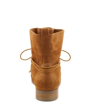 Bota Rustic Lace-up Camel