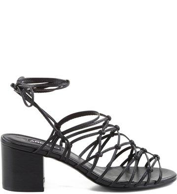 Sandália Glam Lace-Up Preta