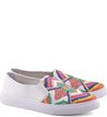 Slip-on Bordado Étnico Branco