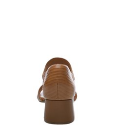 Sandália Soft Lizard Salto Bloco Elástico Natural Tan
