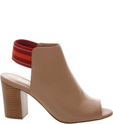 Sandal Boot Couro Elástico Multicolor Pale Beige