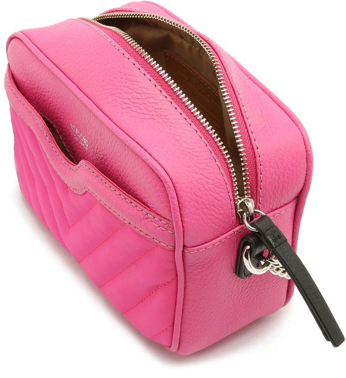 Bolsa Tiracolo Couro Francine Pequena Pink Absolut
