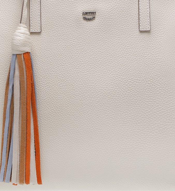 Bolsa Couro Shopping Grande Mirelle Off White