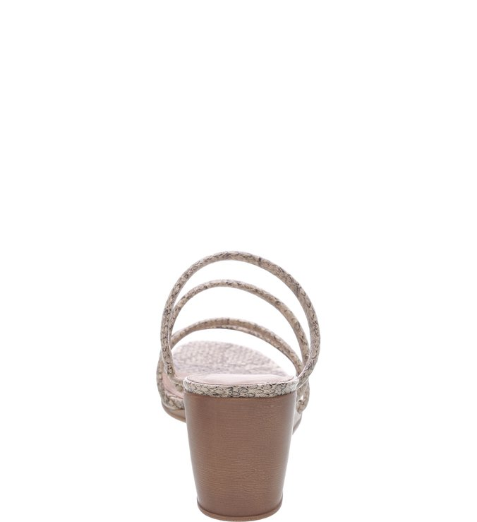 Sandália Salto Médio Anabela Natural e Preta