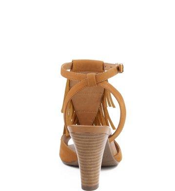 Sandália Franjas Camel