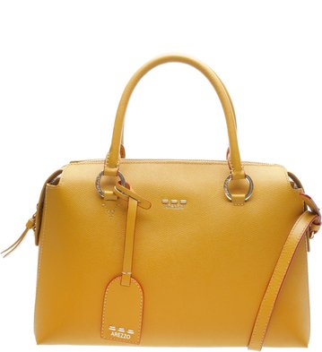 Bolsa Couro Tote Grande Montecchio Charm Old Yellow