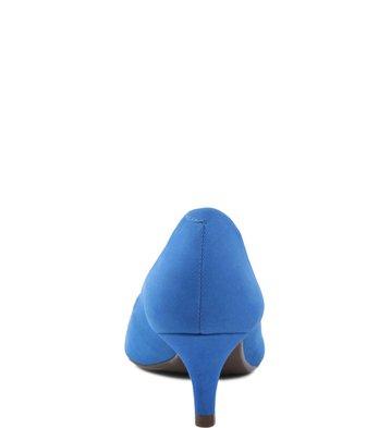 Scarpin Baixo Nobuck Blue-Wave