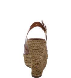Sandália Mood Croco Gloss Salto Plataforma Natural