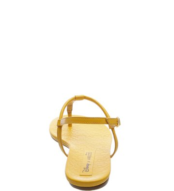 Disney x Arezzo | Rasteira Minimal Pop Hot Yellow