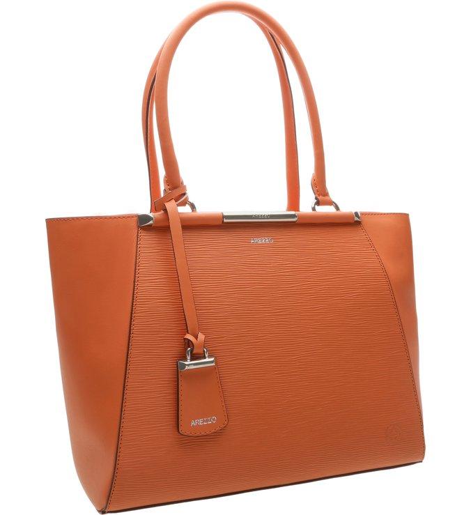 Bolsa Couro Shopping Amore Coral Blush