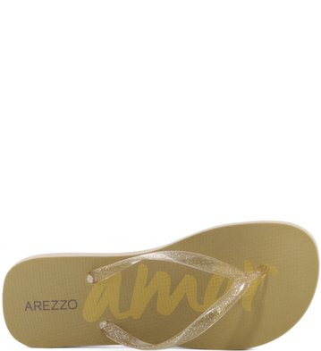Chinelo Glitter Transparente Gold