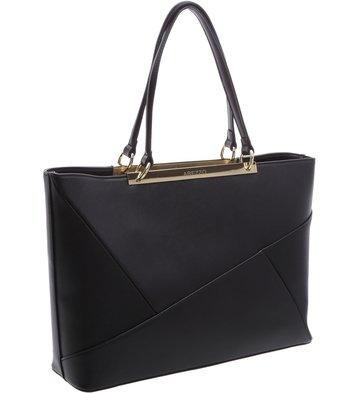 Bolsa Shopping Patchwork Preta
