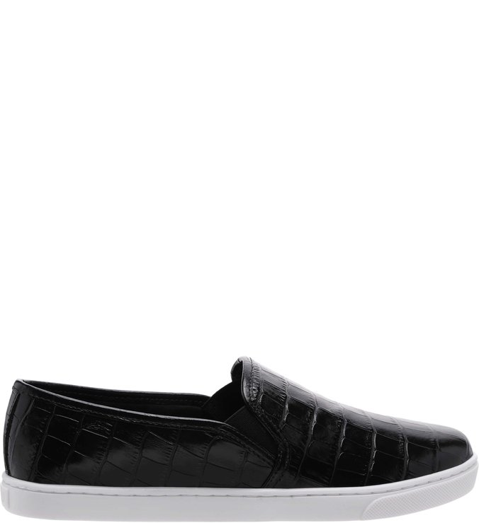 Tênis Slip On Croco Preto