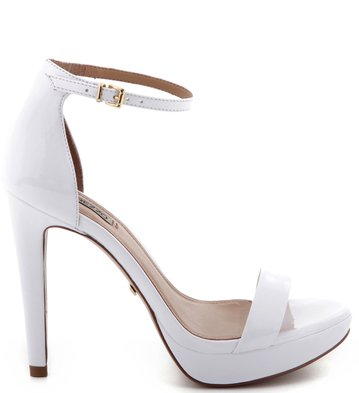 Sandália Verniz Branca