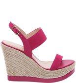 Sandália Plataforma Nobuck Maxi Lady Pink