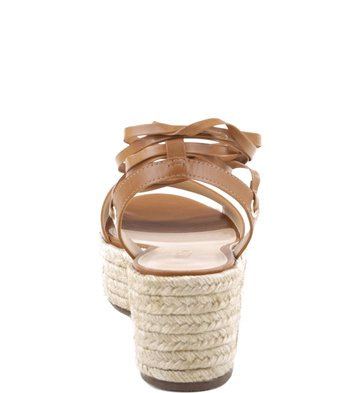 Flatform Lace-up Couro New-Caramel