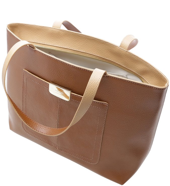 Bolsa Shopping Larissa Grande Natural Wood