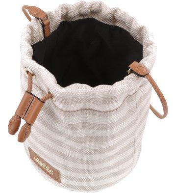 Bolsa Bucket Férias Listras Bege