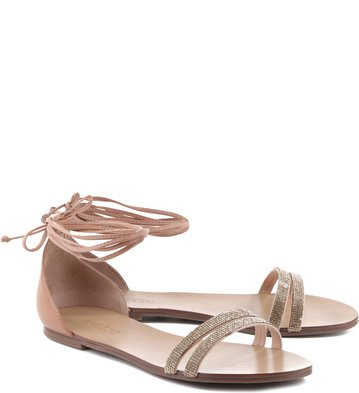 Rasteira Mini Cristais Blush