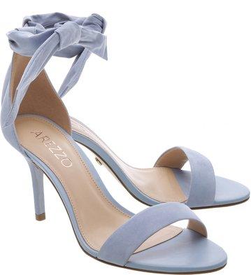 Sandália Nobuck Isabelli Lace Up Alta Crystal Blue