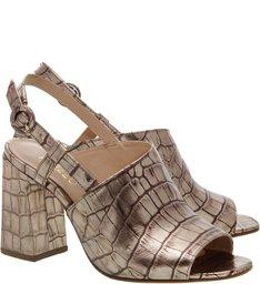 Sandal Boot Croco Salto Alto Transversal New Titanium